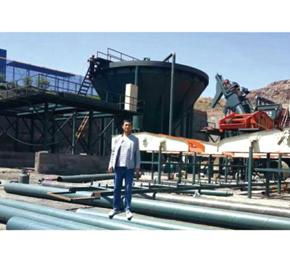 榆林年入洗80万吨 洗煤设备安装现场
